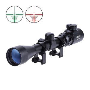 Pinty 3-9X40 Red Green Rangefinder Illuminated Optical Sniper Crossbow Scope