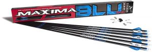 Carbon Express Maxima BLU RZ Fletched Carbon Arrows with RED Zone Technology and Blazer Vanes
