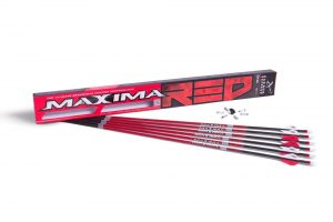 Carbon Express Maxima RED Fletched Carbon Arrows with Dynamic Spine Control and Blazer Vanes