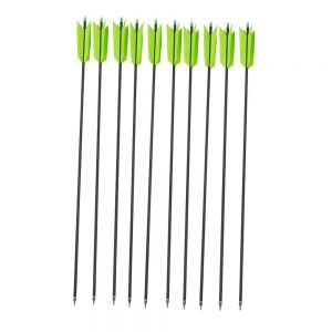 MILAEM 12 Pcs 30 Inch Archery Carbon Arrows Target Flu Flu Arrows 4 Feathers Fletching for Practice Targeting