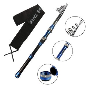 RUNCL Telescopic Fishing Rod Reel Combos