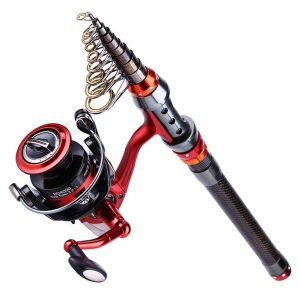 YONGZHI Fishing Poles with Spinning Reels Combos Telescopic Fishing Rod